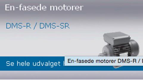 En-fasede motorer DMS-SR fra DM Motors