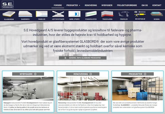 Ny hjemmeside fra SE Hovedgaard A/S