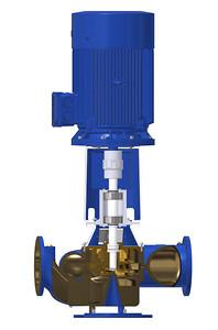 Gennemskåret marine pumpe