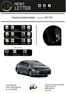 Toyota Corolla Sedan dragkrok