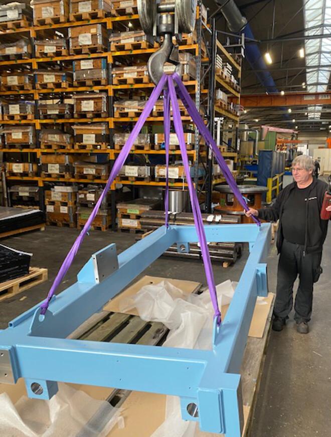 Produktion på fabrikken i Randers
