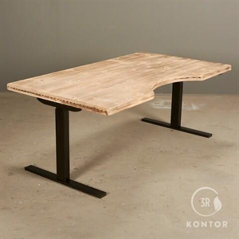 Hæve sænkebord. copen table centerbue. gamle gulvbrædder.