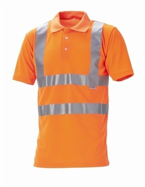 Poloshirt, hi-vis, kl. 2, 11113 - orange