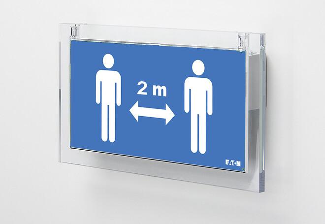 Social Distance Sign - hold afstand i det offentlige rum