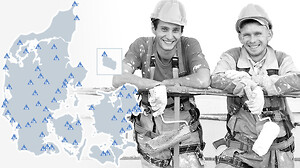 Nem og billig arbejdsovernatning i hele landet - SPAR 10%\n