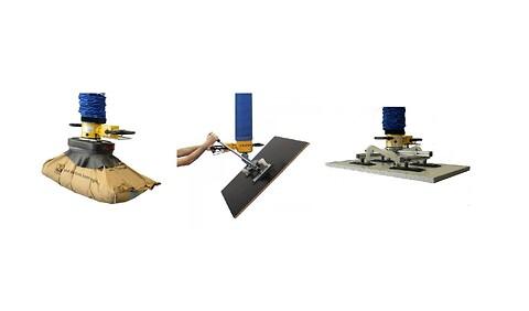 Vaccum: en særdeles ergonomisk og økonomisk løftemetode - Vacuumløfteåg til mange emner, drej, vip og løft sække, plader, glas mm.