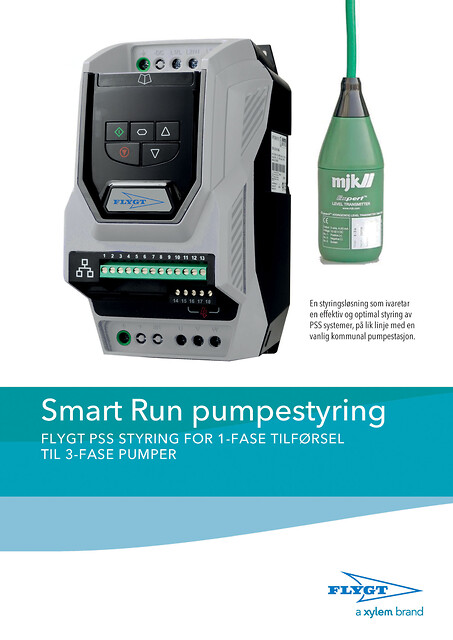Smart Run pumpestyring fra Xylem Water Solutions Norge AS