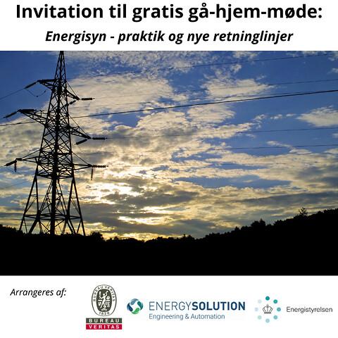 Gratis gå-hjem-møder: Bliv klar til anden runde energisyn - Hvert fjerde år skal store virksomheder som led i EU´s klimaplan foretage et energisyn, der har til formål at nedbringe CO2-udledningen.\n\nMange virksomheder skal derfor snart igennem 2. runde energisyn. Derfor sætter vi på gå-hjem-møderne fokus på de nye retningslinjer, formålet med et energisyn og de mange muligheder et energisyn medfører.\n\nDer kan være mange økonomiske og miljørelaterede gevinster at hente ved et energisyn, da det giver et overblik over, hvor energien anvendes, og synliggør potentialet for energieffektivisering.