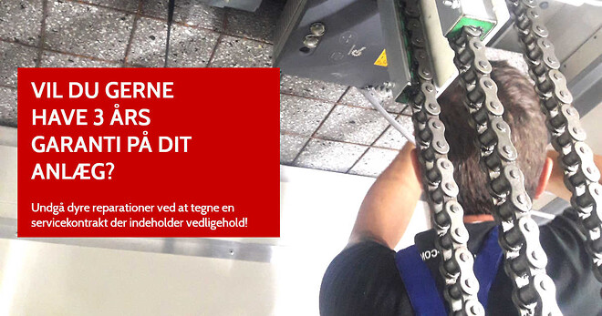 Elevator garanti i 3 år | HYDRO-CON A/S