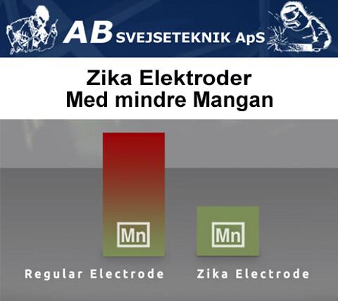 Zika Elektroder med 60% mindre mangan