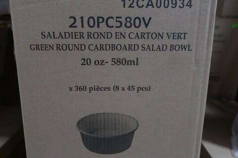 1440 stk. rund grøn salatboks - type 210PC580V