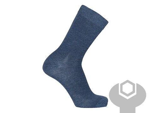 Business sock jeans blå str. 40-46