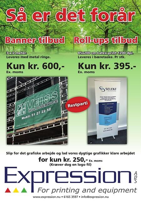 Bannere og roll ups til Danmarks billigste priser