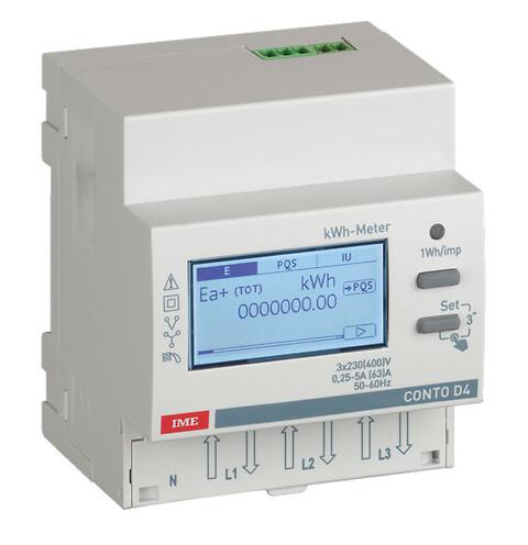 Conto D4 energimåler 63A direkte - Conto 4 moduls MID energimåler