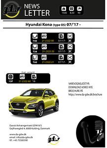 Hyundai Kona fast og aftageligt anhængertræk fra Dansk Anhængertræk GDW