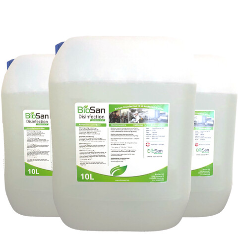 BioSan Disinfection - 1x10 liter - desinfektion mod bakterier, virus og skimmel