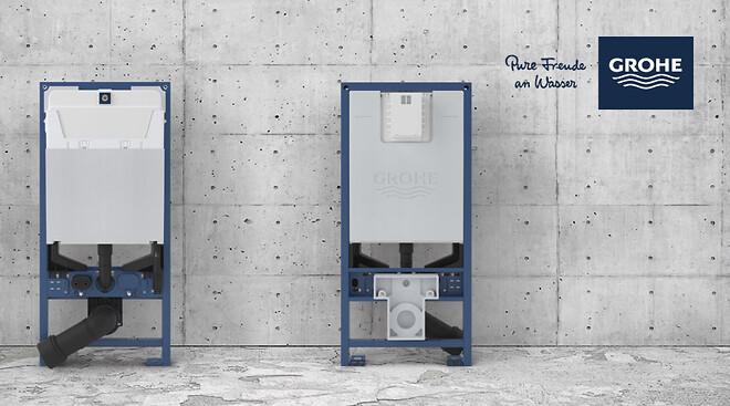 GROHEs Rapid SLX indbygningscisterne er fremstillet til at gøre livet lettere og mere bekvemt – både for installatøren og slutbrugeren.