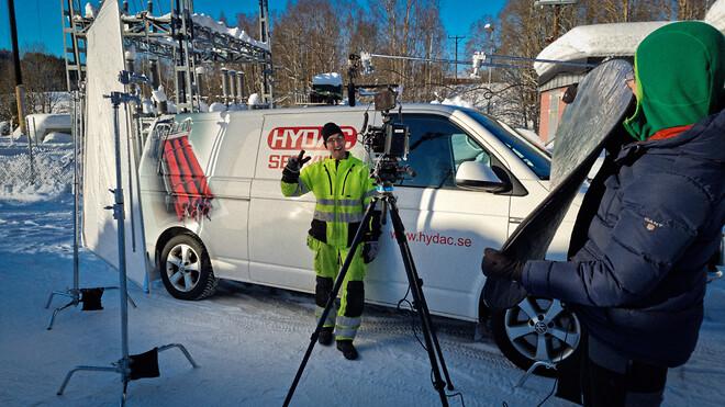 Servicetekniker hos Hydac som utför service på allt som har med hydraulik att göra.