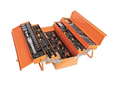 Værkstedskasse m/værktøj 91 dele beta easy line