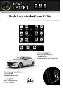Mazda 3 Sedan fast og aftageligt anhængertræk fra Dansk Anhængertræk GDW