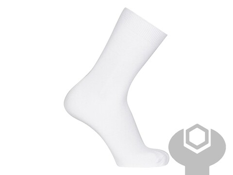 Business sock hvid str. 40-46