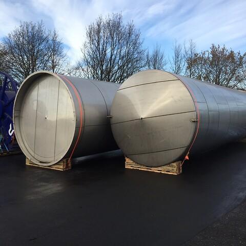 1 st. 200 m3 oisolerad silo i rostfritt och syrafast stål V1151 Reserverad