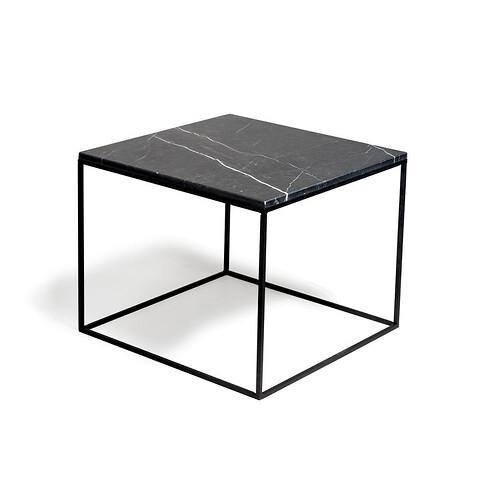 Sofabord marmor square - 5550S - metalstel b
