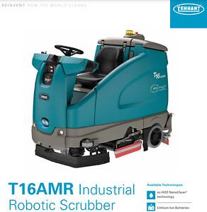 Tennant T16 AMR robot skurmaskin clean machine småland