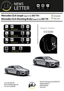 Mercedes CLA + CLA AMG line Anhængertræk fra Dansk Anhængertræk GDW