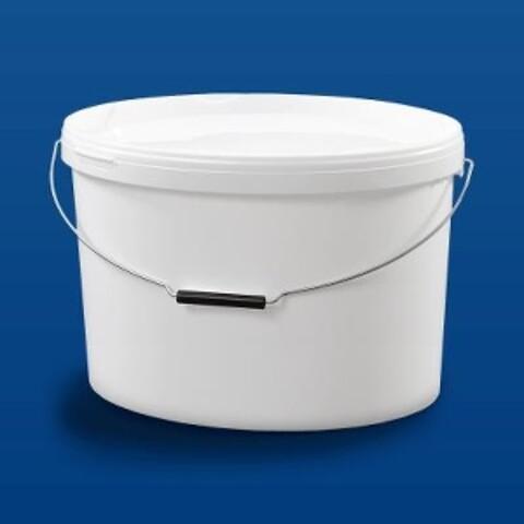 Oval plastspand EOE19000 - 18,8 l - hvid