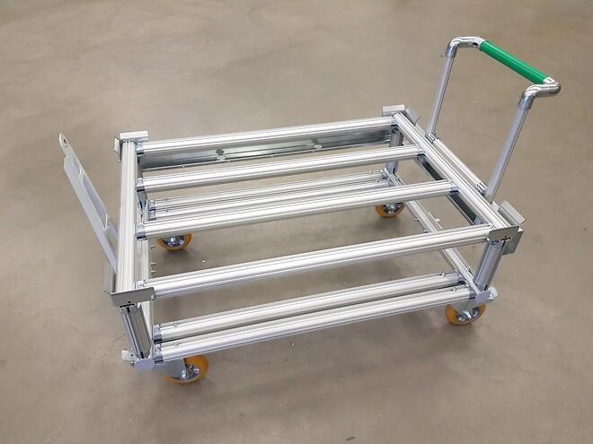 vagn, aluminium, pall, eupall, tågvagn