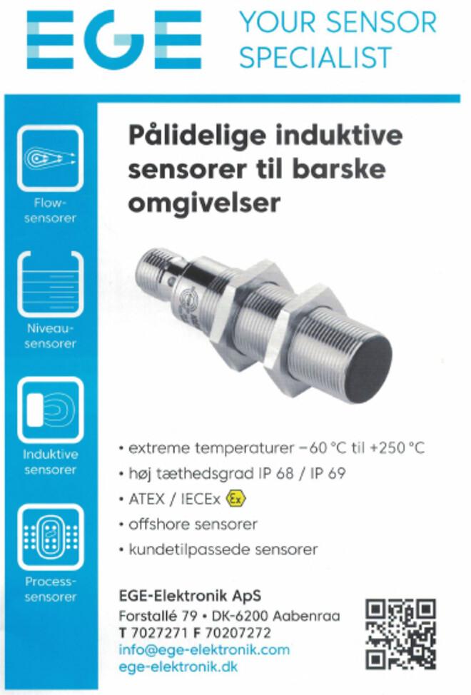 Sensorer til barske krævende miljøer. EGE-Elektronik