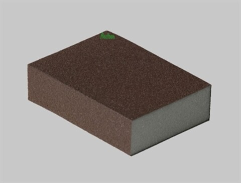 5 stk flexifoam red block slibeklodser medium