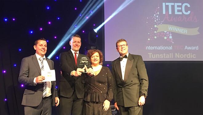 Tunstall vinder International TEC Award 2019