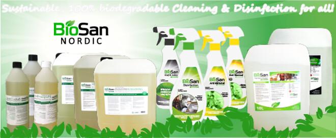 BioSan Nordic - Bæredygtige midler til rengøring og desinfektion