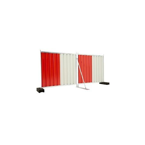 Mobile skærmhegn rød/hvid 2,2x2 m