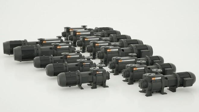 Två nya modellserier med vakuumpumpar med vätskering i totalt 13 storlekar från Busch