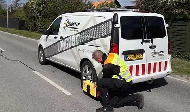Eurostar registrerer løbende alle vejstriber i Odense Kommune.