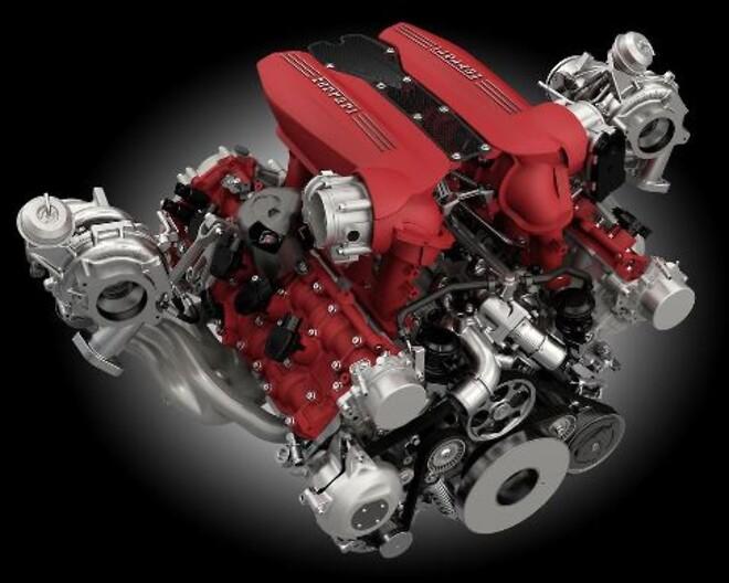 Ferraris V8-turbo används i tre modeller: Ferrari 488 GTB, 488 Spider och 488 Pista. I den sistnämnda modellen ger V8:an 720 hk, 50 hk mer än standard-488, vilket gör den till den mest kraftfulla V8:n i Ferraris historia.