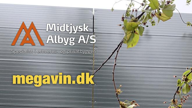 Stort halbyggeri i Odder. Megavin.dk mangler lagerplads. Midtjysk Albyg bygger alle typer halbyggeri.