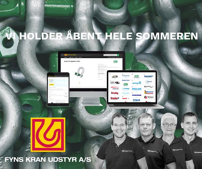 Fyns Kran Udstyr har åbent hele sommeren!