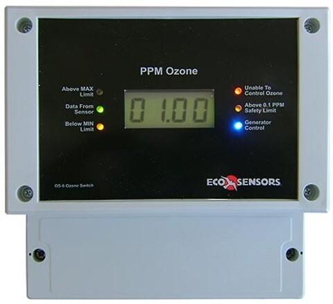 Fastmonteret Ozonmåler/Alarm/Relæ OS-6