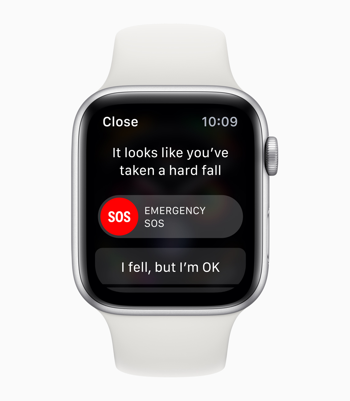 Apple watch känner av ett hårt fall
