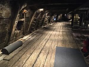 Batteridäck på skeppet Vasa