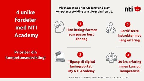 NTI tilbyr kurs innenfor industri og design - NTI Academy