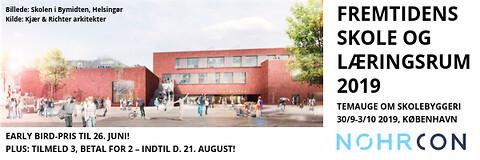 Fremtidens skole og læringsrum 2019 - temauge om byggeri og indretning af skoler og daginstitutioner - Fremtidens skole og læringsrum 2019 - konference om skolebyggeri