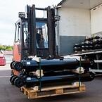 Cylindrar på väg att levereras till en av Melin & Carlssons OEM kunder.