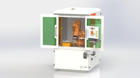Kompakt lasercell för svetsning, skärning och cladding