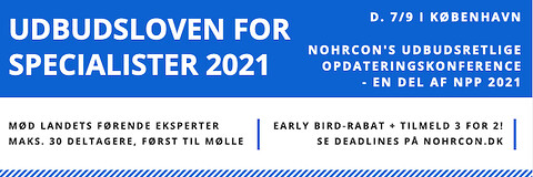 Udbudsloven for specialister 2021 - Udbudsloven for specialister 2021 - Nohrcon