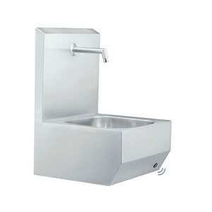 Håndvaske med 1 vaskestation i rustfri stål
